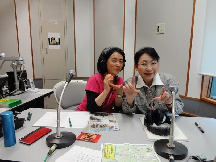 大葉由佳さん(左)と笹崎久美子(右)