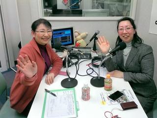 森田みさ(右)さんと笹崎