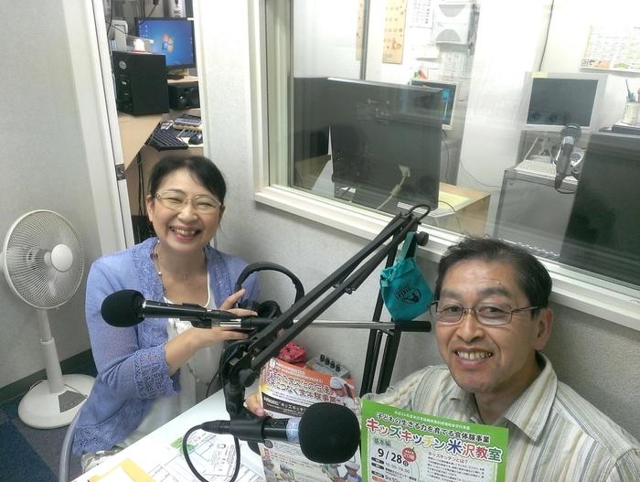 渡部一彦さん(右)と笹崎久美子