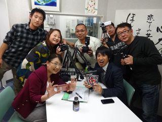 高橋禎晃さん(右手前)と本日のスタッフ